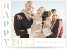 This is a yellow new year photo card by Ashlee Townsend called Prism with standard printing on triplethick in standard.