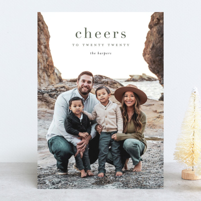"""yearly cheers"" - New Year Photo Cards in Hunter by Kasia Labocki."