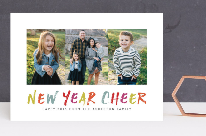 """""""Colorful and cheery"""" - Modern New Year Photo Cards in Tropical by Lea Delaveris."""