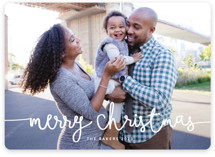 This is a white new year photo card by Melanie Severin called Playful Script with standard printing on smooth signature in standard.