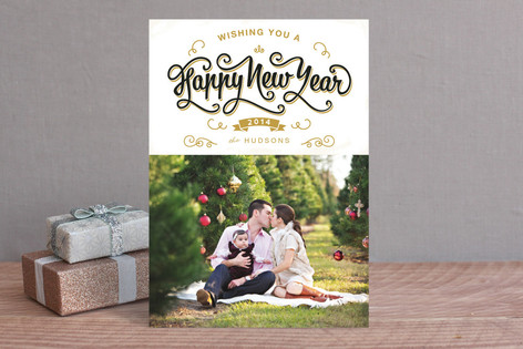 Scripted New Year New Year Photo Cards