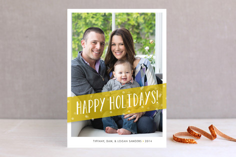Festive Banner New Year Photo Cards