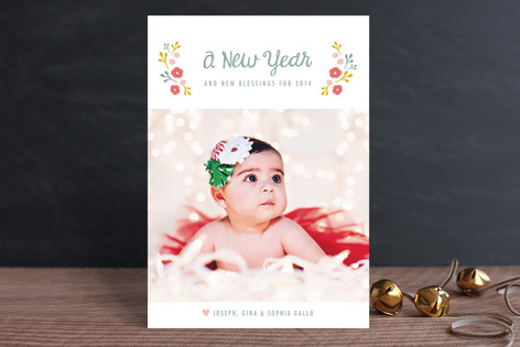 Sweet Blessings New Year Photo Cards