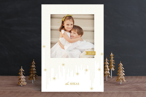 Twinkling Streamers New Year Photo Cards