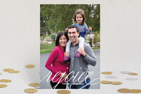 Yearly Cheer New Year Photo Cards