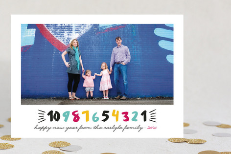 Baby's Countdown New Year Photo Cards
