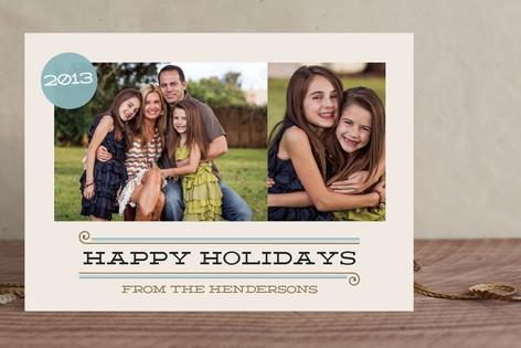 Calmly Modern New Year Photo Cards