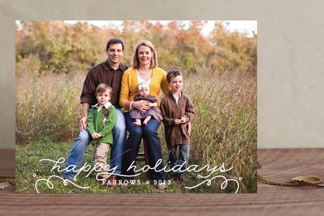 Swirly New Year New Year Photo Cards