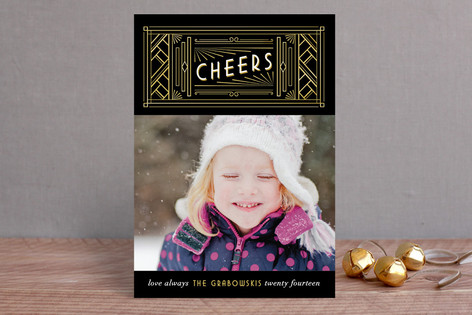 Art Deco New Year Photo Cards