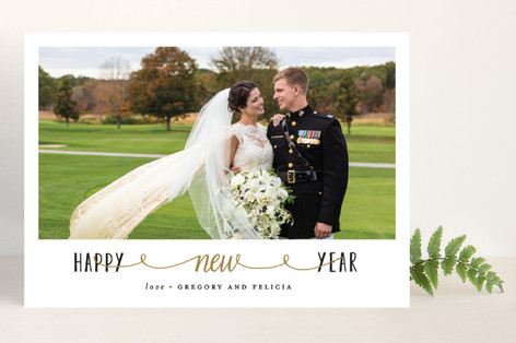 Newly Wed New Year Photo Cards