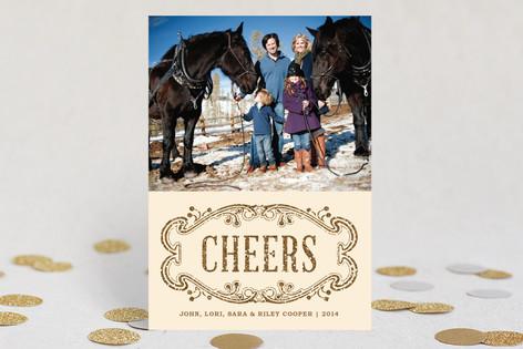 Elegant Cheers New Year Photo Cards