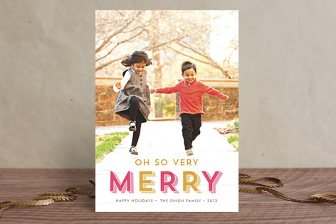 Oh So Very Merry New Year Photo Cards