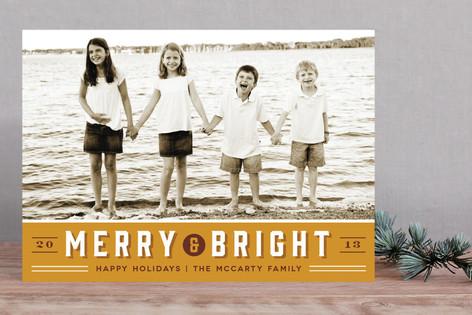 Retro Merry New Year Photo Cards
