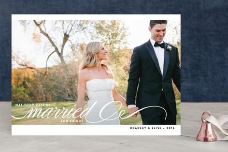 Married + Bright New Year Photo Cards