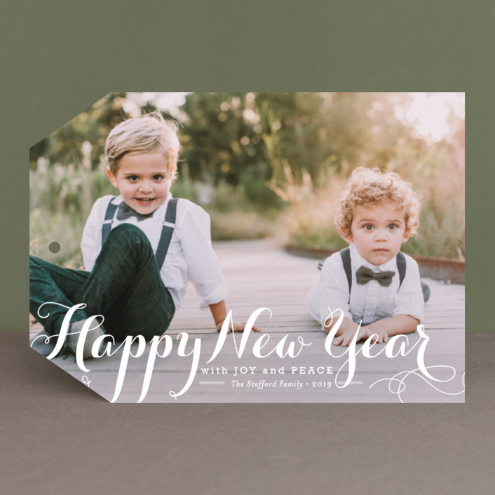 """Spirit of Christmas"" - New Year Photo Cards in Snow by Design Lotus."