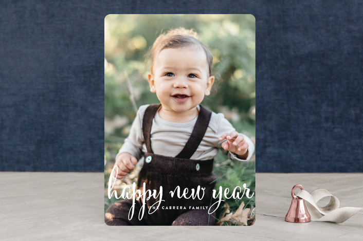 """Aglow"" - New Year Photo Cards in Snow by annie clark."