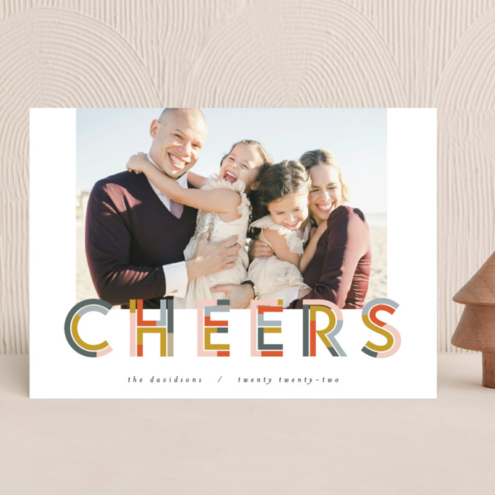 """Chunk Cheers"" - New Year Photo Cards in Party by Pixel and Hank."