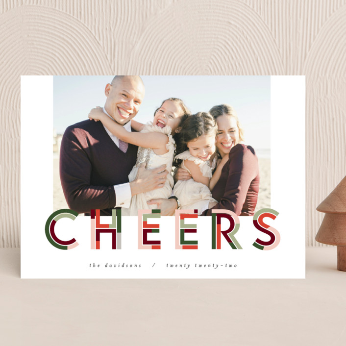 """""""Chunk Cheers"""" - New Year Photo Cards in Fruitcake by Pixel and Hank."""