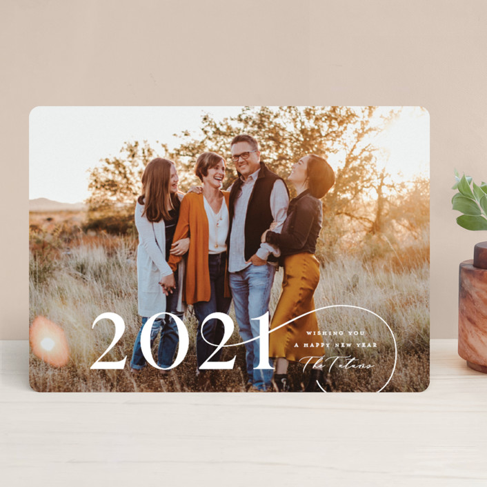 """Enclosed"" - New Year Photo Cards in Snow by Lauren Chism."