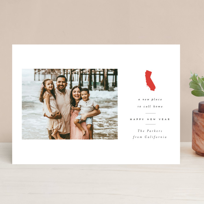 """New Place to call home"" - New Year Photo Cards in Poppy by Nazia Hyder."