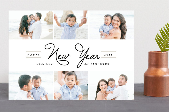 """New Year Collage"" - New Year Photo Cards in Midnight by Pistols."