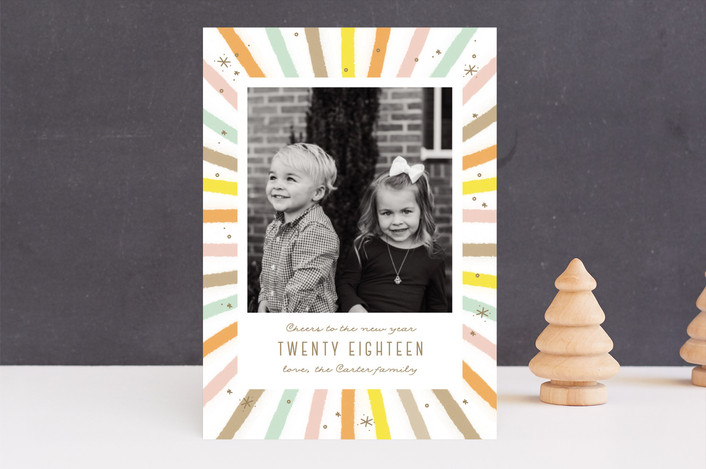 """Cheer burst"" - Modern New Year Photo Cards in Ethereal by Sweta Modi."
