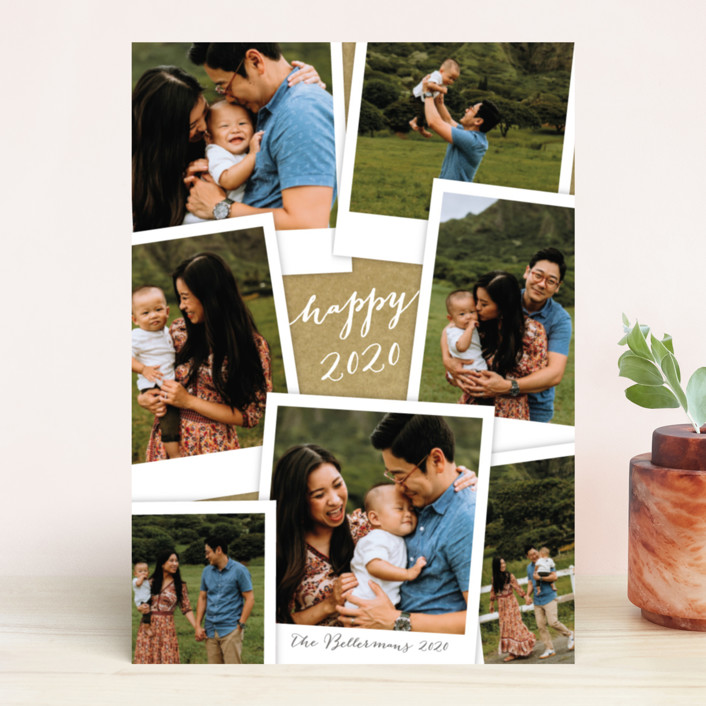 """Simple Snapshots"" - Vintage New Year Photo Cards in Kraft by Laura Hankins."