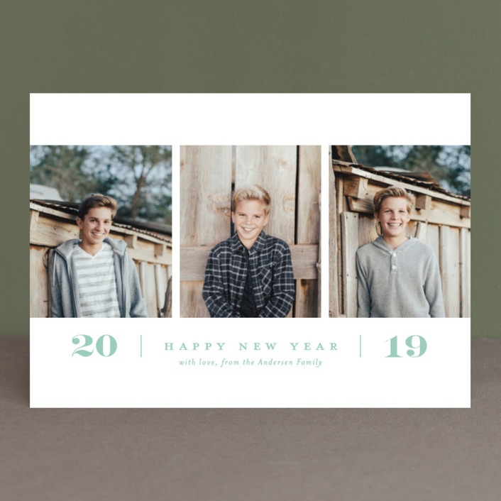 """""""Simple. New. Year."""" - New Year Photo Cards in Icicle by Brooke Chandler."""