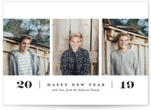Simple. New. Year. New Year Photo Cards