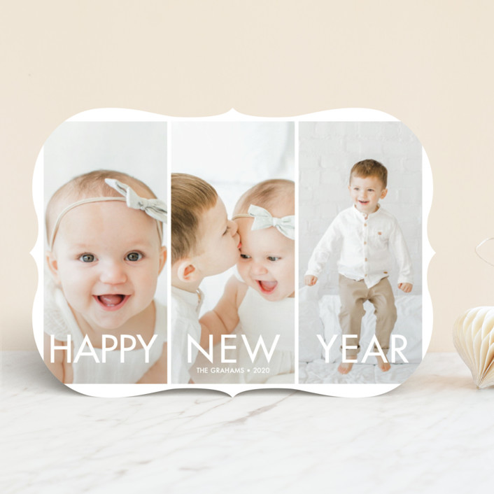 """More the Merrier"" - New Year Photo Cards in Winter by chica design."