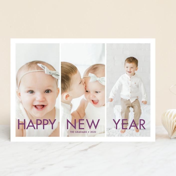 """""""More the Merrier"""" - New Year Photo Cards in Winter by chica design."""