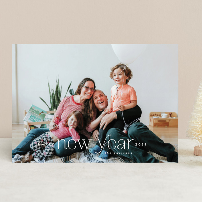 """New Year Type"" - New Year Photo Cards in Flurry by Ink and Letter."
