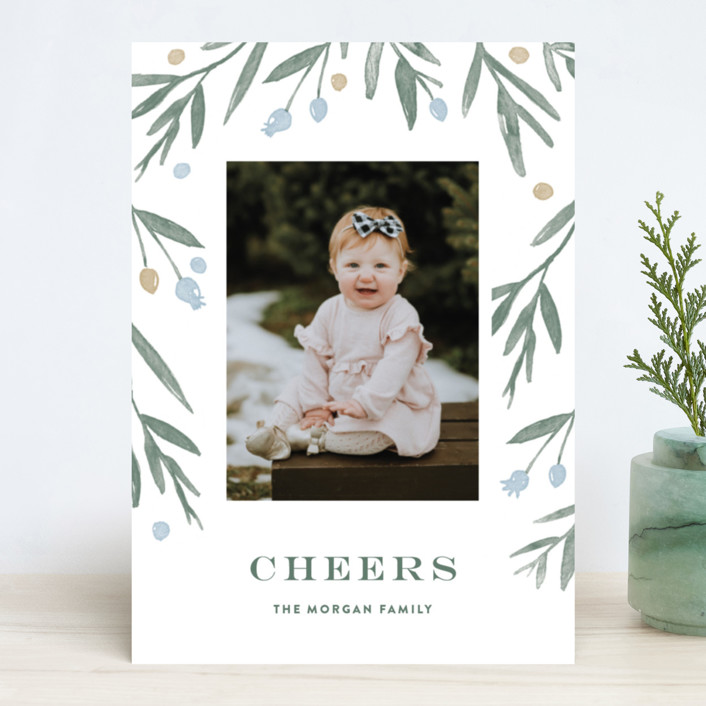 """""""Winter Harvest"""" - New Year Photo Cards in Frozen Lake by Oscar & Emma."""