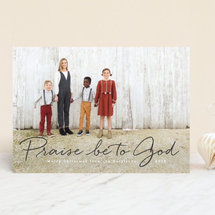 """""""Praise be to God"""" - New Year Photo Cards in Icing by Design Lotus."""