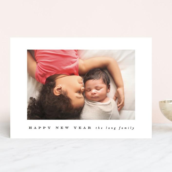 """a happy year"" - New Year Photo Cards in Ebony by Angela Thompson."