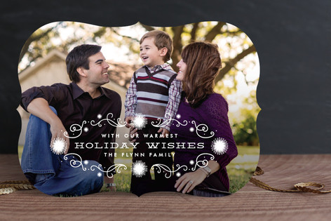 Winter Lights New Year Photo Cards