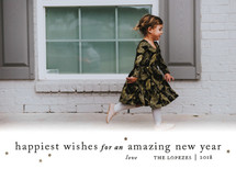 Happiest Wishes to You New Year's Photo Cards By Ellis
