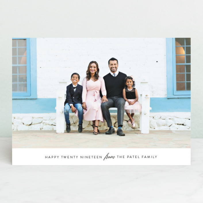 """Classic New Year"" - New Year Photo Cards in Midnight by Seven Swans."