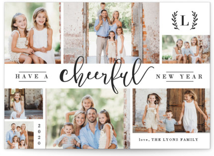 wonderful collage new years photo cards