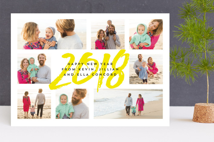 """""""Eight is great"""" - Modern New Year Photo Cards in sunny by Lea Delaveris."""