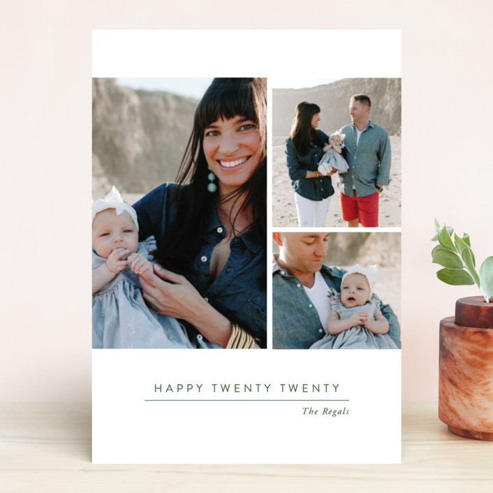 """""""Looking Ahead"""" - New Year Photo Cards in Pine by Oscar & Emma."""