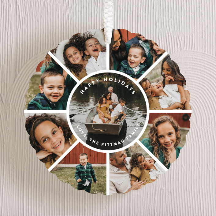"""""""Family Circle Holiday"""" - Holiday Ornament Cards in Snowball by Guess What Design Studio."""