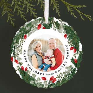 Berries and Foliage Holiday Ornament Cards