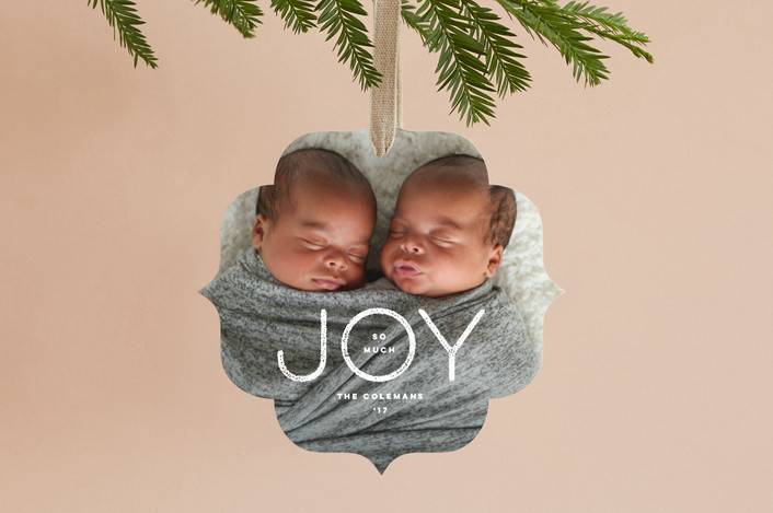 """So Much Joy"" - Holiday Ornament Cards in Snow by fatfatin."