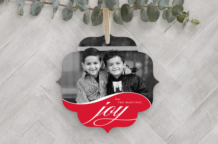 Flowing Joy Holiday Ornament Cards