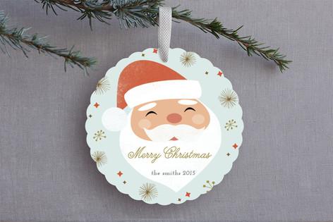 Santa Baby Holiday Ornament Cards
