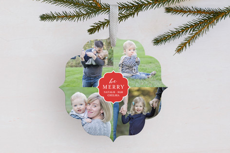 Festive Four Holiday Ornament Cards