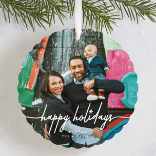 starry holiday Holiday Ornament Cards