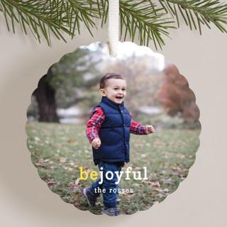Be Joyful Holiday Ornament Cards