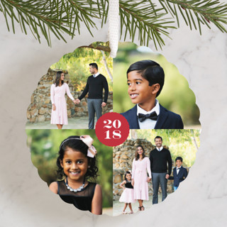 Four Square Holiday Ornament Cards